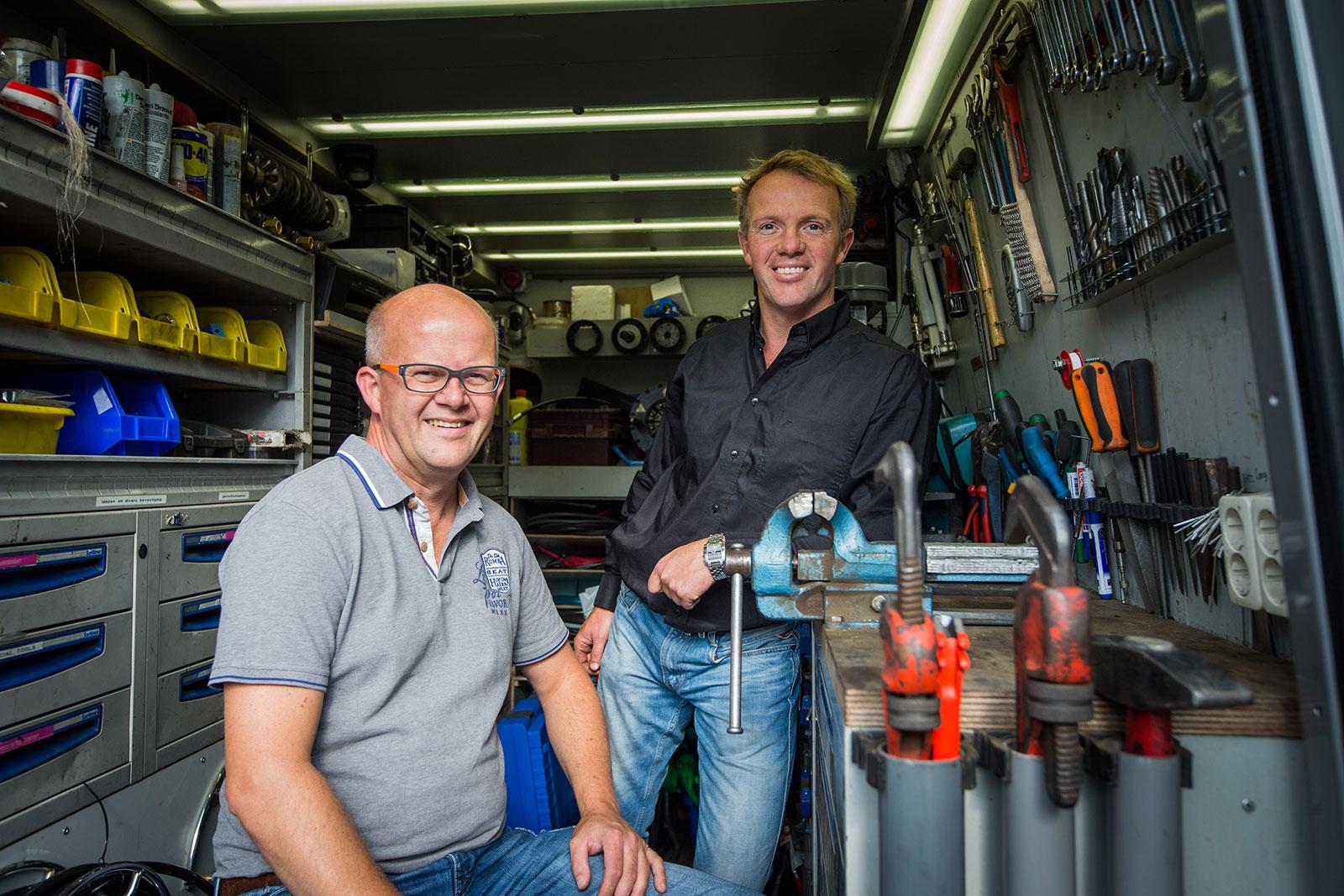 Washnet Danny en Michael Harskamp wasboxen carwash bouw, installatie en onderhoud