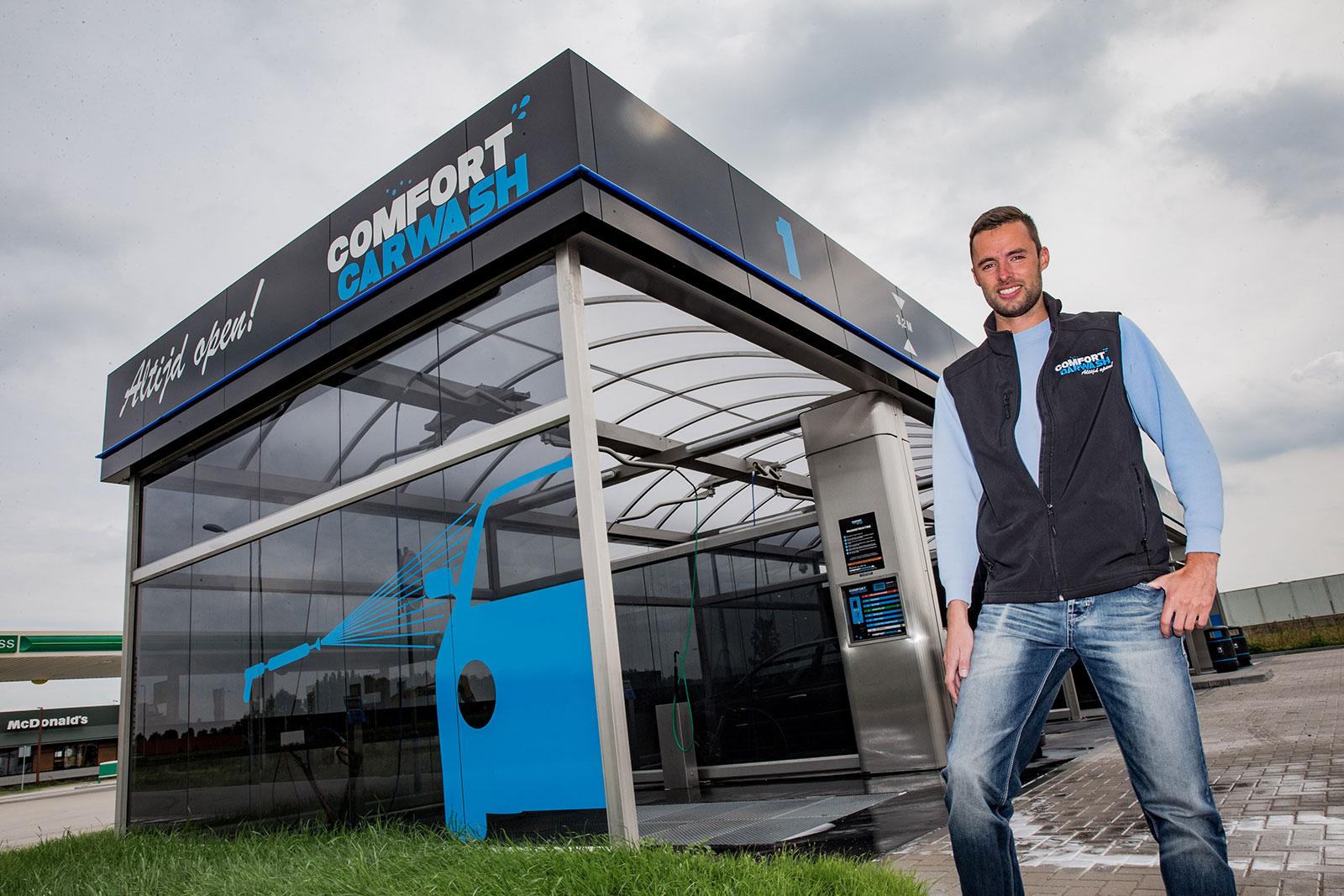 Washnet Nijkerk Sven van Ginkel wasboxen carwash bouw, installatie en onderhoud